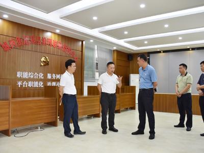 湘桥区委主要领导到城西街道调研基层社会治理工作--推进立体联防共治 提升群众安全感