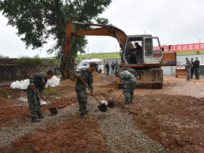 湘桥区组织防汛工程应急抢险演练--提高应急实战水平  增强救援处置能力