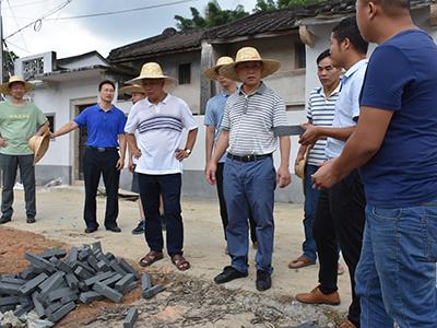 湘桥区委主要领导督导意溪镇省级新农村连片示范建设--对标要求加快进度 整合资源打造品牌