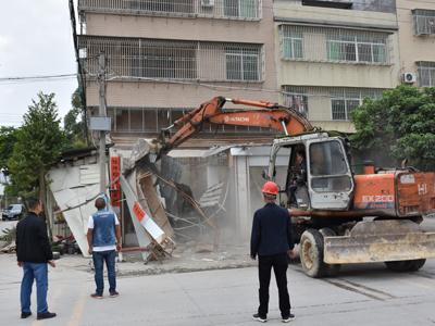 意桂线(北山路)拓宽升级工程项目清拆工作全面启动